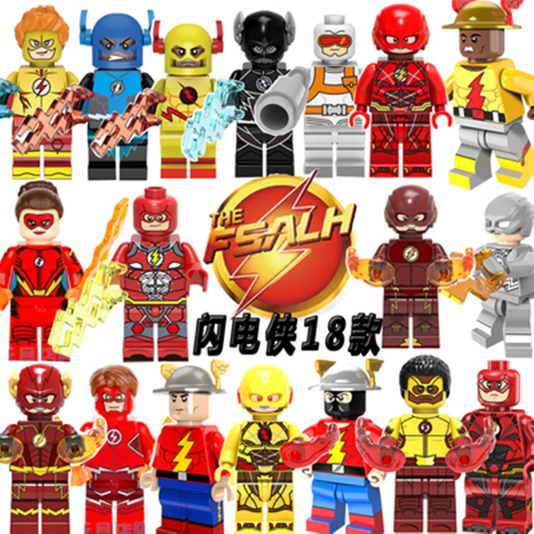 Buy legoing flash super heroes red yellow black flash jesse quick punisher - Flash le super heros ...