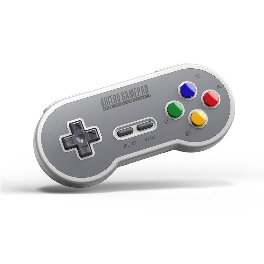 Contrôleur sans fil de remplacement 8 Bitdo Bluetooth Gamepad avec adaptateur récepteur USB joysticks pour console Nintendo SNES/SF-C play