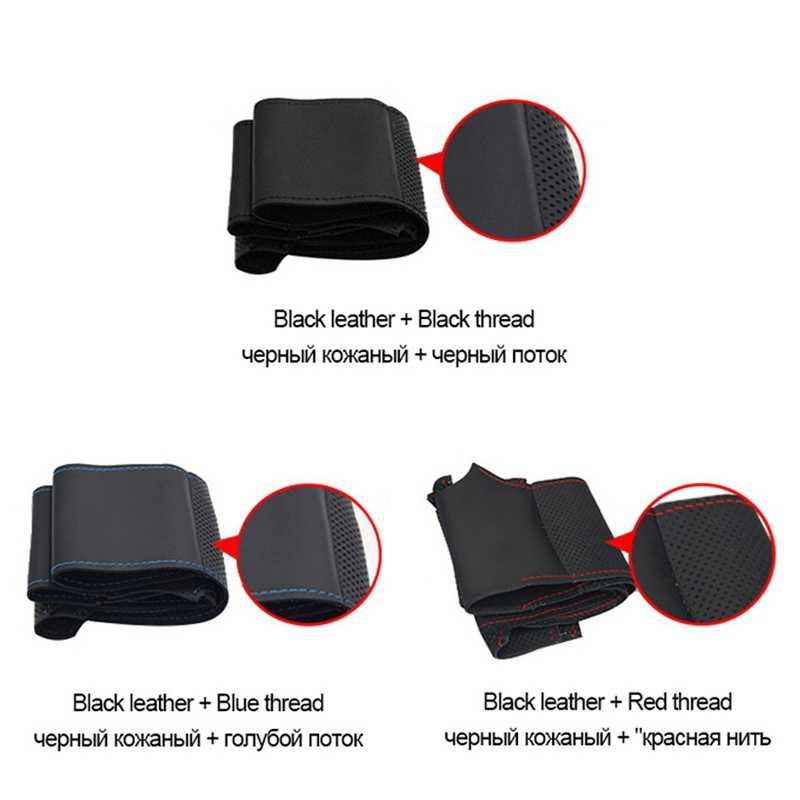 GNUPME de cuero Artificial negro DIY cubierta del volante del coche para BMW M3 M4 2014-2016 F31 428i 2015 F30 320d 328i 330i 2016