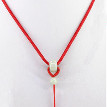 Aladdin New Brand DSF Jewelry Chinese Wind Style Red Rope  Cord with Nature Jade bead 3 kinds color for people picking Thread