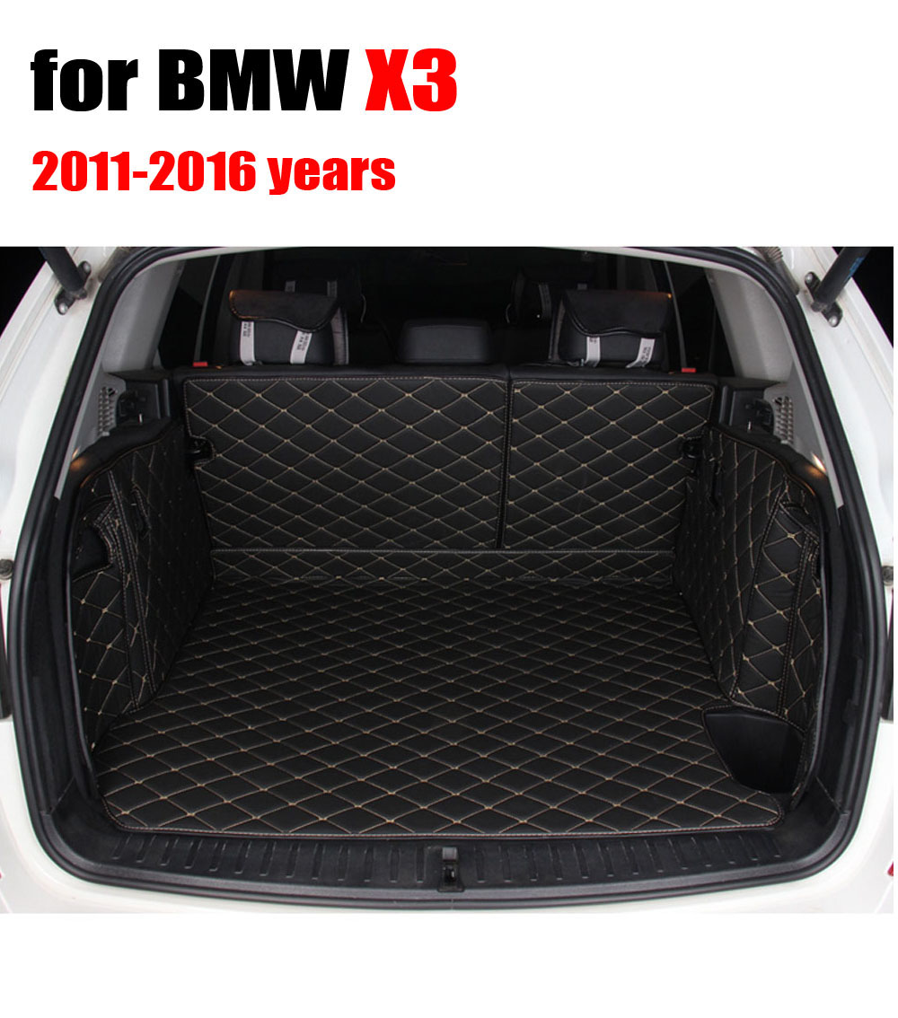 Trunk mats for bmw x3 2011 2016 car cargo trunk floor mat liner all weather