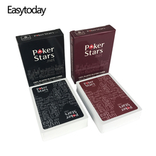 Easytoday 10Pcs/set PVC Poker Cards Baccarat Texas Hold'em Plastic Playing Cards Waterproof Frosting Poker Card Board Games easytoday 1pcs set new classic poker baccarat texas holdem waterproof frosting plastic playing cards entertainment games