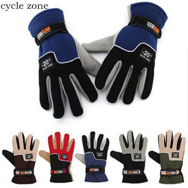 Cycle zone <font><b>1</b></font> <font><b>Pair</b></font> Mens Winter Warm <font><b>Motorcycle</b></font> Ski Snowboard Cycling <font><b>Gloves</b></font> <font><b>High</b></font> <font><b>Quality</b></font> Waterproof <font><b>Glove</b></font> for cycling wear