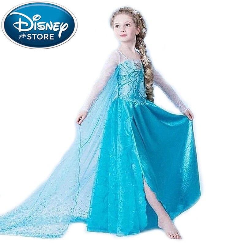 Disney Frozen dress summer green elsa costumes Girl Cosplay party ...