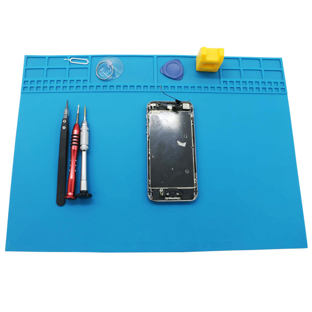 New Hot Sale 35x25cmhigh Quality BGA Heat Insulation Silicone Soldering Pad Repair Maintenance Platform Desk Mat With Magnetic