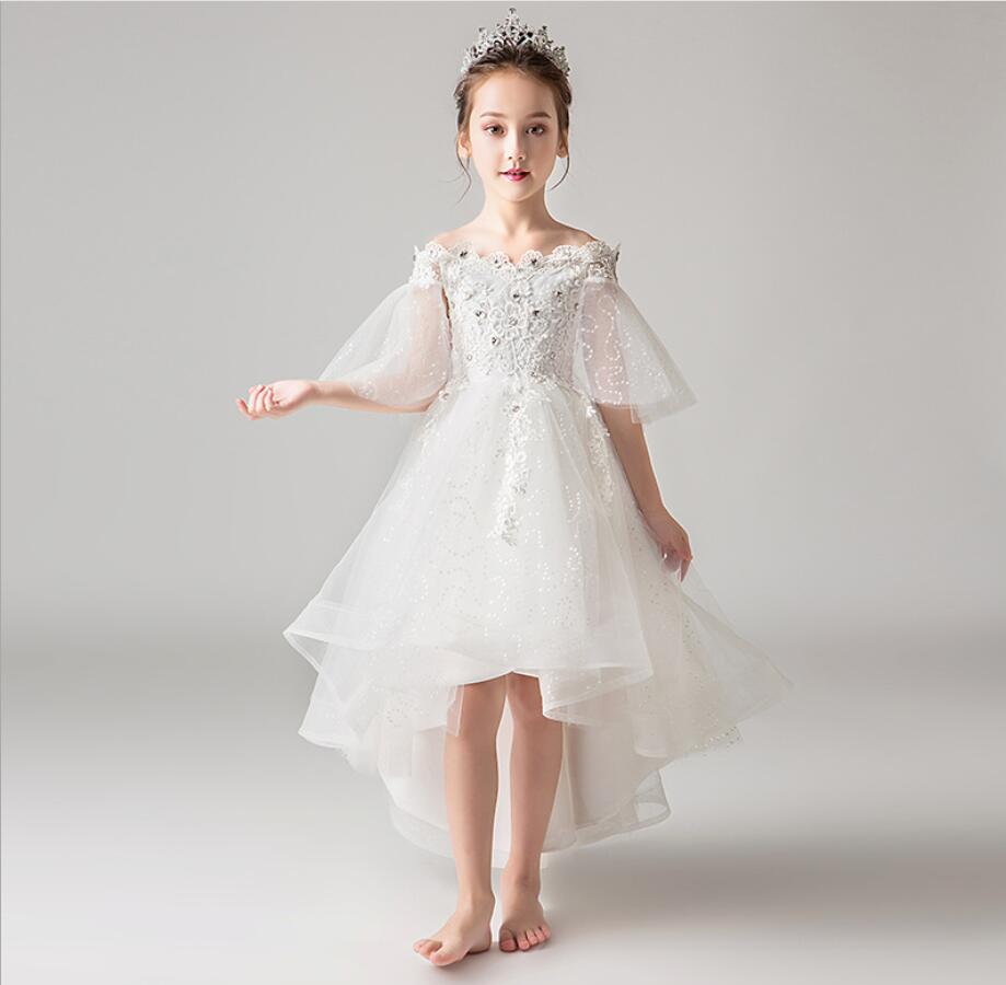 Princess Children Fancy Dress Ball Gown Lace Wedding Dresses Girls Kids Party Wear Clothes for 3-12 Years Tutu Dress HW2374Princess Children Fancy Dress Ball Gown Lace Wedding Dresses Girls Kids Party Wear Clothes for 3-12 Years Tutu Dress HW2374