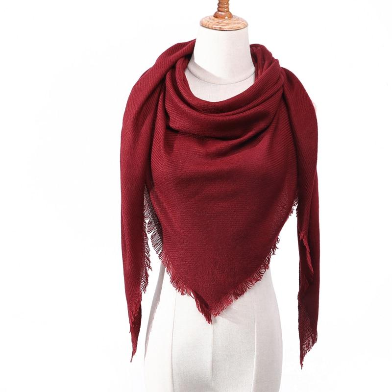 Бандана палантин платок на шею шарф зимний Дизайнер трикотажные весна-зима женщины шарф плед теплые кашемировые шарфы платки люксовый бренд шеи бандана пашмина леди обернуть - Цвет: c9