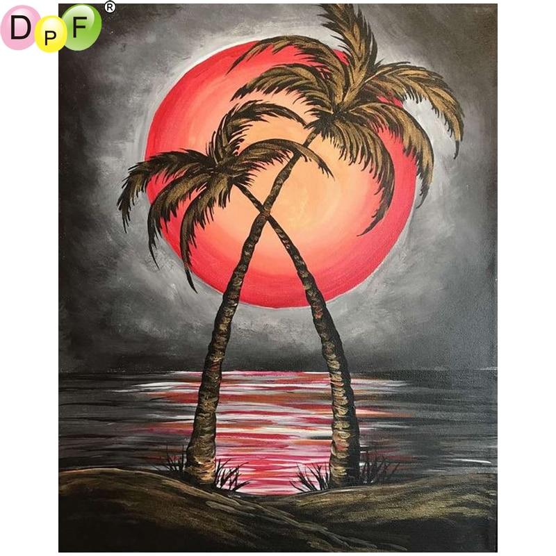5D Full Drill Diamond Mosaic Cross Stitich Red Coconut Craft Art Home Decor
