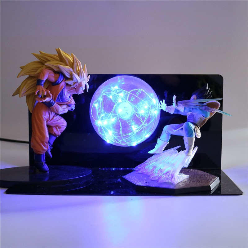 Dragon Ball Z Figurine Goku Son Night Light Collectible for Children Baby Toys Action Figures Kids Doll DIY Anime Model TD-0134 48pcs lots kids toys pokeball action figures pikachu anime pokeball toys mixed 2 3cm mini random mini figurine toys for children