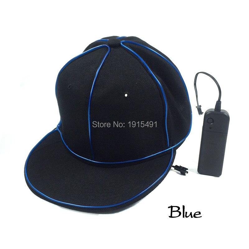 New Design Popular Cold Light Rave Costume Hip-hop Hat Illuminate Neon Led Bulbs Thread Halloween B-Boy Cap with DC3V Converter автоинструменты new design autocom cdp 2014 2 3in1 led ds150