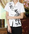 New Arrival White Traditional Chinese style Women's Cotton Shirt Top Clothing Size S M L XL XXL Free Shipping A0082
