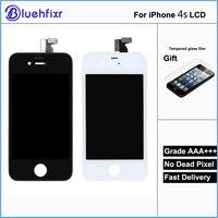Qualidade AAA para iphone 4S LCD conjunto do Visor Digitador Da Tela de Toque Do Telefone Móvel LCD com Frame Para O iPhone 4S LCD