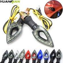 2 Pieces 12V LED Motorcycle Motorbike Turn Signal Indicators Blinker Amber Yellow Light Lamp Bulb For Honda Yamaha Harley