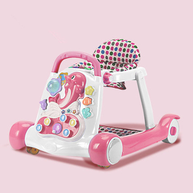 Anti-rollover Multi-function Baby Walker with Music