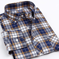 New Arrival Oxford Non-Iron Men's Brand Business Casual Clothes Mens Long Sleeve Dress Plaid/Striped Formal Shirts For Men