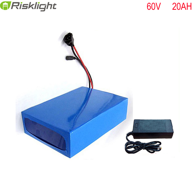 No taxes 60v 2000W  ebike battery pack 60V 20AH Electric Bicycle Battery Scooter E-Bike 18650 Lithium Ion battery with charger atlas bike down tube type oem frame case battery 24v 13 2ah li ion with bms and 2a charger ebike electric bicycle battery