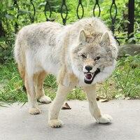 Реалистичные Волк/Моделирование волк ручной работы и vivid идеальное украшение дома 110*65 см