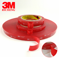 12mmX33M 3M VHB Tape 4910 Clear For Glass Metal 1 0mm Free Shipping