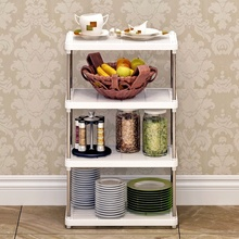HearTogether Brand Plastic Storage Organization Rack 3 Layers or 4 Layers Shelf for Home Office