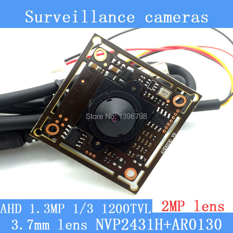 1.3MP AHD AR0130 CCTV 960P mini night vision Camera Module 1/3 HD  2MP 3.7mm lens 92 degrees surveillance camera