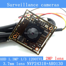 "1.3MP AHD AR0130 CCTV 960P mini night vision Camera Module 1/3 ""HD 2MP 3.7mm lens 92 degrees surveillance camera"