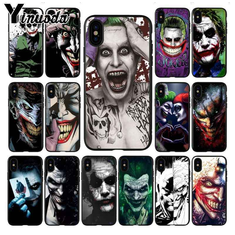 Yinuoda Crazy batman Joker tattoo Protector ออกแบบโทรศัพท์กรณีสำหรับ iPhone 6 S 6 plus 7 7 plus 8 8 plus X Xs MAX 5 5 S XR