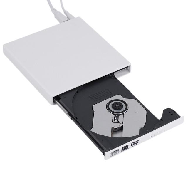Mais novo preto USB 2.0 Externo de CD +-DVD-RAM RW DVD +-RW Burner Escritor Para Laptop PC