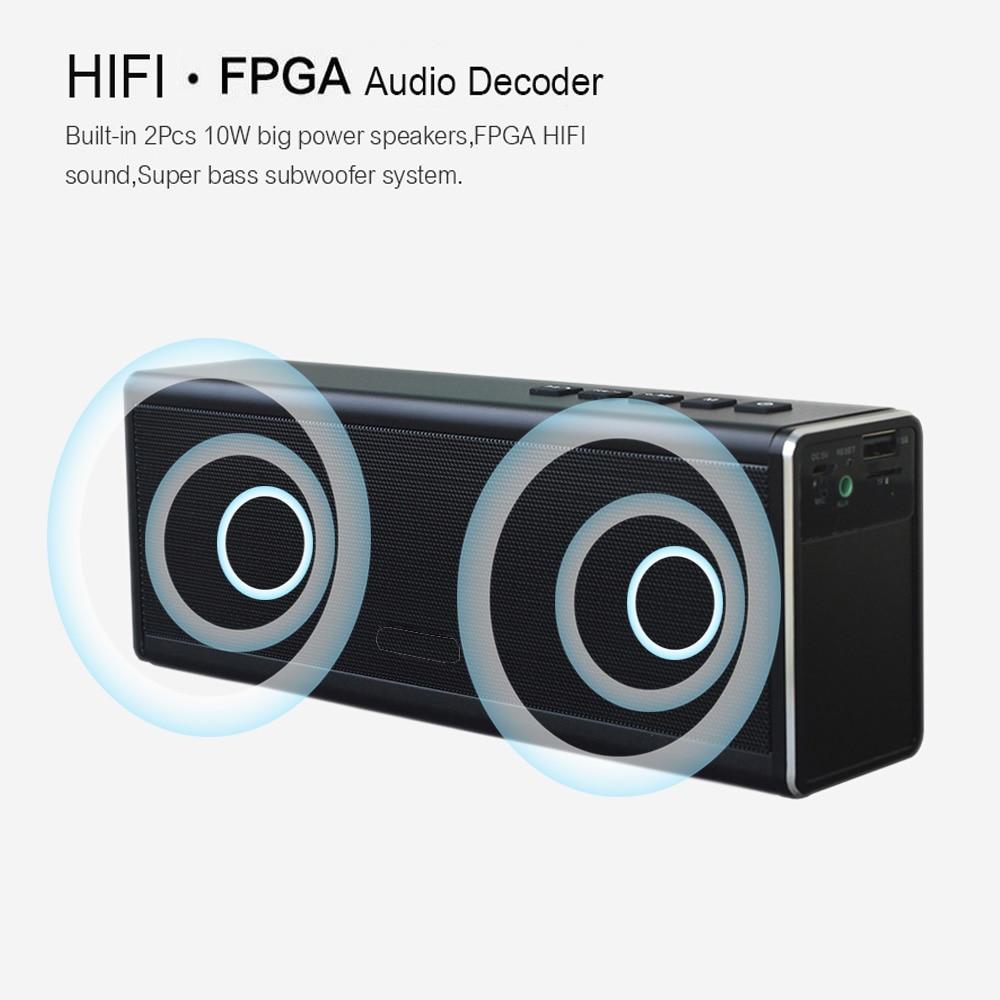 20 Вт Bluetooth динамик 4000 мАч большой мощности беспроводной динамик портативный супер бас сабвуфер Открытый водонепроницаемый Бумбокс радио TF