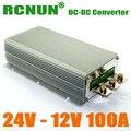 RCNUN Новейший Тип 24 В до 12 В 100A 1200 Вт DC DC Преобразователь Шаг Вниз Регулятор Напряжения Низкая Цена и Супер Качество