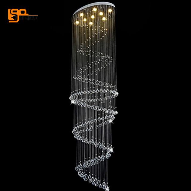 New modern long chandelier crystal lamp dia60h300cm lustres hanging new modern long chandelier crystal lamp dia60h300cm lustres hanging staircase light aloadofball Choice Image