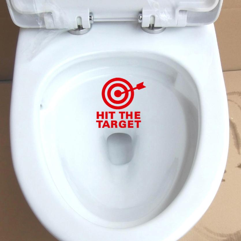 New Qualified Removable DIY Arrow&Target Toilet Seat Bathroom Sticker Home Refrigerator Wall Decal Art Toilet Stickers D40Se15