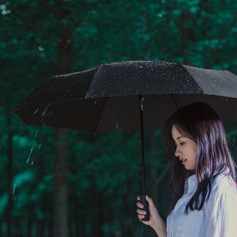 Xiaomi Mijia Автоматический складной 1-зонтик и открытие 420g Алюминий ветрозащитный мужские и женские Водонепроницаемый для зимы летний зонтик