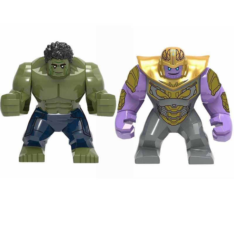 Legoing Marvel Avengers 4 Endgame Hulk Thanos Ironman Thor Building Blocks ของเล่นเด็ก Super Heroes Legoing ตัวเลข