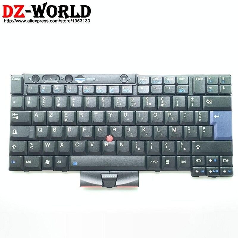 Bilgisayar ve Ofis'ten Yedek Klavyeler'de FR Fransız Klavye için Lenovo Thinkpad T410 T420 X220 X220i T410S T420S T510 T520 W510 W520 Teclado 45N2152 45N2082 45N2222 ben title=
