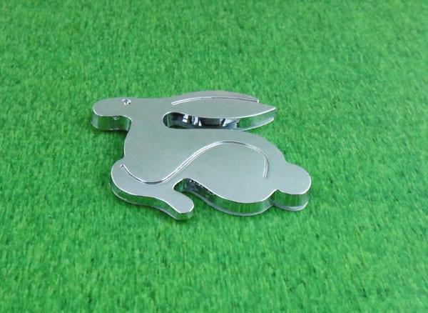 Auto car chrome Running Rabbit for Jetta Golf Polo MK3 MK4 MK5 MK6 MK Emblem Badge Sticker auto car chrome 16v 16 v emblem badge sticker