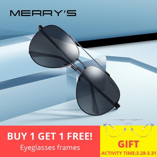 83ec09afc20a MERRYS DESIGN Men Classic Pilot Sunglasses Aviation Frame HD Polarized Sun  glasses For Men Driving UV400