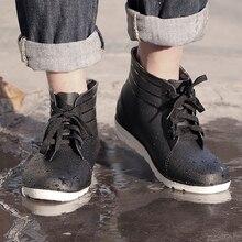 2017  rubber rain boots men light low slip fishing boots short rubber rainboots man bot garden galoshes