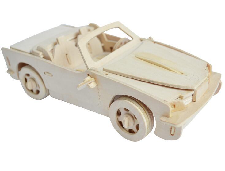Моделирование родстер игрушка модель 3d трехмерные деревянные головоломки игрушки для детей Diy ручной работы деревянные пазлы