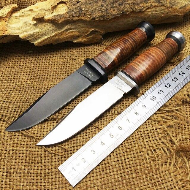 US $26 42 18% OFF|Mới nhất Hunting KA Bar olean NY USN MK1 cố định Knife  7Cr17Mov Blade Steel + da xử lý dao chiến thuật EDC cụ