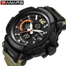 PANARS Luxury Military Watch Men Sport Stopwatch Wristwatch Mens Digital Watches Water Resistant Electronic  reloj Led hombre