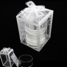 NEW!! 4cm Clear Lace Flower Crystal Stamper, Double-Head Nail Art Stamper Silicone Marshmallow & Scraper Tool