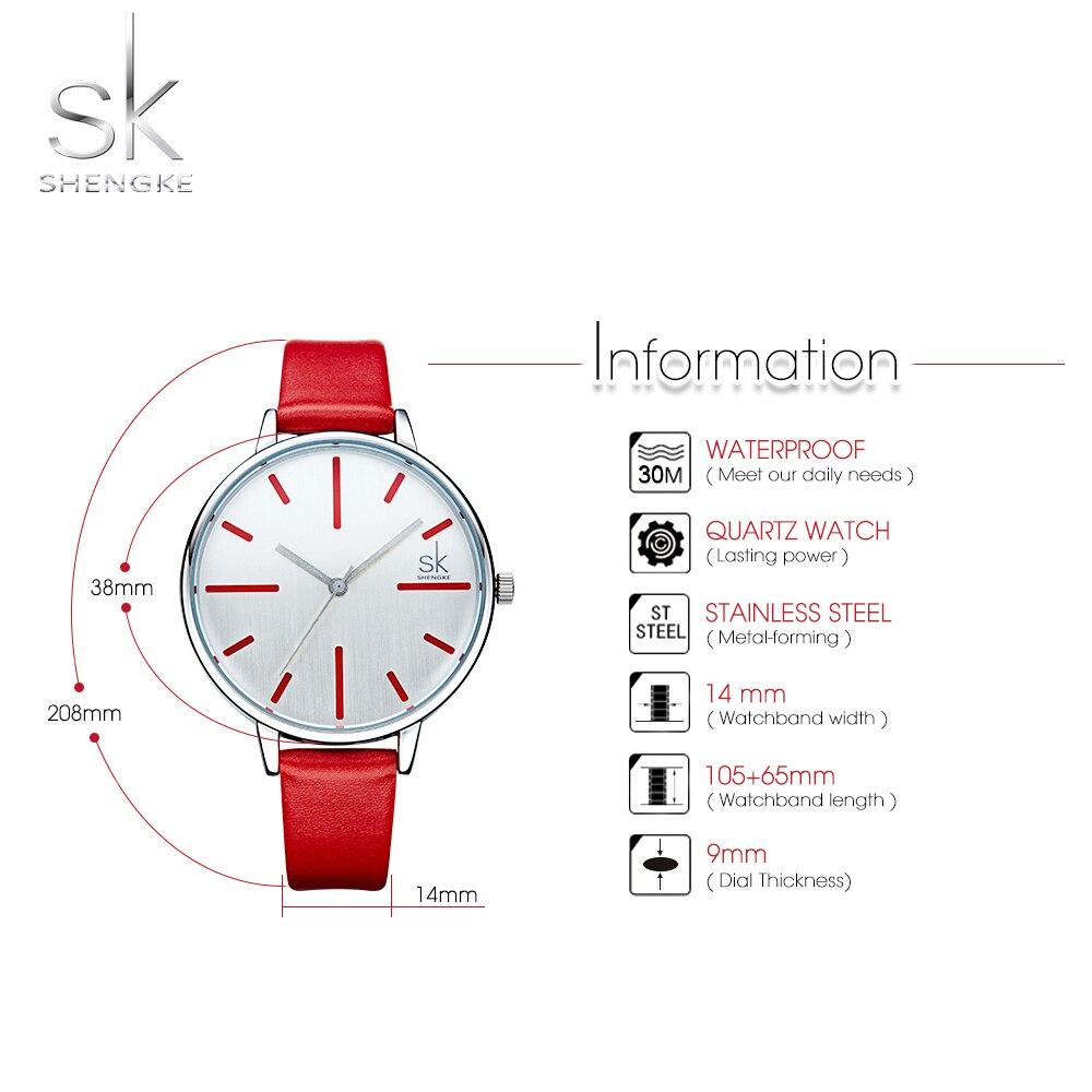 Shengke Fashion Quartz Women Watches 14mm Leather Ladies Watch Clock Relogio Feminino Girl Gifts Female Wrist Watches Slim Saat