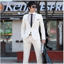 Pure white wedding photography 2017 men's suits Cultivate one's morality and groom wedding dress Two piece