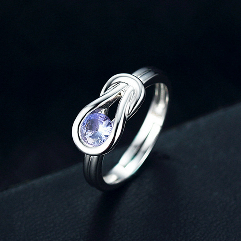 Curve Genuine Natural 2.9ct Blue Tanzanite 925 Sterling Silver Adjustable Ring цена