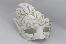 Masquerade Princess Venice mask terror Halloween white lace diamond simulation