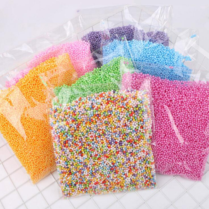Polystyrene Styrofoam Plastic Foam Mini Beads Ball DIY Assorted Colors Decorate EventParty Supplies Decoration Christmas 10g/bag