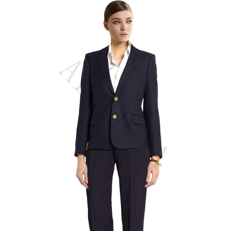 Trajes de chaqueta mujer azul marino