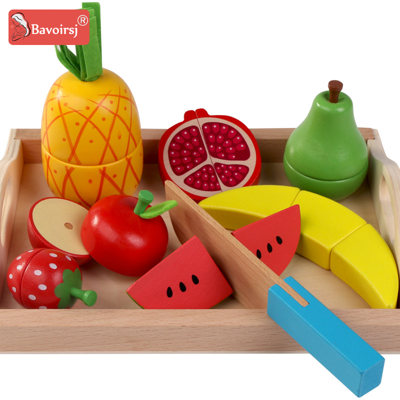 Wooden Box For Kids Simulation Kitchen Toys Fruits Set Food Cut Wooden Toy Montessori Early Education Baby Toys T0287 2017 new arrival baby montessori toys wooden rainbow balance blocks toy colorful beads seesaw early education childrens day gift
