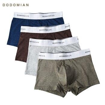 4 قطعة/مجموعة ملابس داخلية للرجال DODOMIAN حزام مطاطي عريض ملابس داخلية للرجال سراويل داخلية من القطن 1