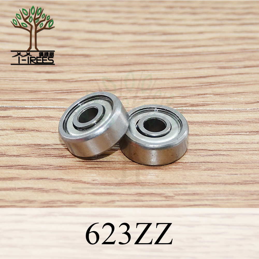 10pcs/lot 623ZZ Ball bearing 623-ZZ 3x10x4 mm Miniature deep-groove ball-bearing 623 2Z ZZ bearing 623Z for 3D printer part free shipping 10pcs lot mr84 mr84z mr84zz 4x8x3 mm deep groove ball bearings miniature model bearing mr84 l 840 zz
